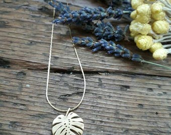 Gold-plated Palm necklace