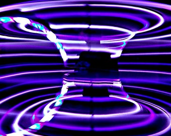 LED Hula Hoop Polypro HDPE Loopy Lavender By TheHoopSmiths