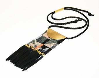 Beaded Necklace Loom necklace seed bead necklace Ethnic style Ethnic necklace TRIBAL NECKLACE