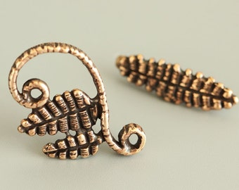 """Bronze Toggle Clasp - Handmade Toggle - Natural Clasp - Aged Toggle - Handmade Findings 2622(1)""""Relic forest"""" collection."""