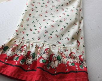 Retro Santa Ruffled Christmas Towel