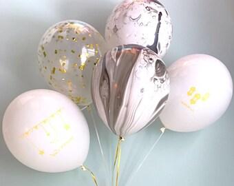 Mixed Eid Mubarak Balloons (Set of 6)