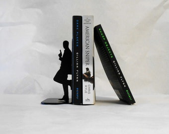 Special Agent / 007 / James Bond / Spy / Mission Impossible / Double Agent / Undercover / Secret Agent / Metal Art Bookends