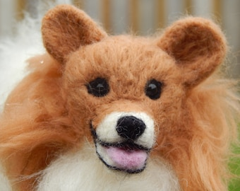 Custom Needle felted Dog - original soft sculpture -  small size - Toy Dog Pomeranian - Dog Sculpture