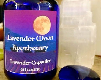 Lavender Capsules (30 count) - Lavender Moon Apothecary