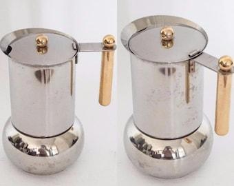 Vev Vigano Stianless Steel Coffee maker - Moka Pot - Italian Espresso Maker