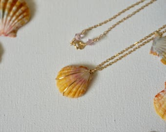 Good Filled Sunrise Shell Necklace