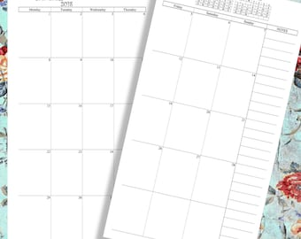 2018 Monthly Planner 2018, 2018 Agenda, 2018 Dated Calendar, 2018 Planner, Monday Start
