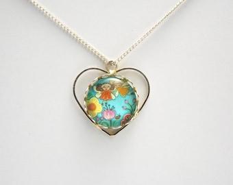 Garden fairy necklace Garden fairy pendant Garden fairy jewelry Flower fairy necklace Garden fairies Fairy tale necklace Fairy tale jewelry