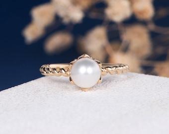 Pearl Eternity Ring Etsy