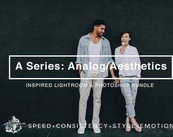 A Series: Analog / Aesthetic A4 A5 A6 VSCOcam Inspired Analogue Aesthetics Film Toning Lightroom Presets Bundle