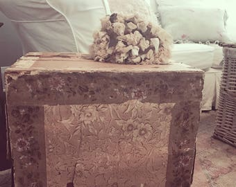 Huge antique wooden wallpaper floral covered crate shabby french nordic chic rachel ashwell couture