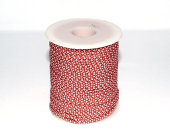 10, 20 or 50 m (m) 2.5 mm red and white Paracord (climbing rope / survival)-ref: 2852