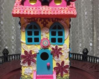 Vintage Townhouse Birdhouse