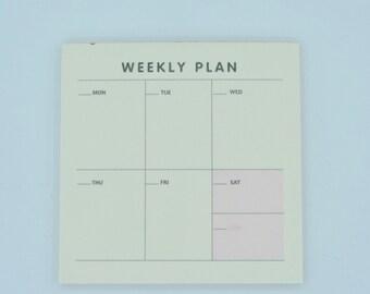 Mémos Weekly planner organisation semaine post it agenda