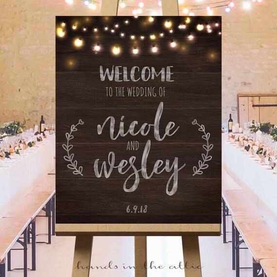 Wedding welcome sign wedding reception printables sign
