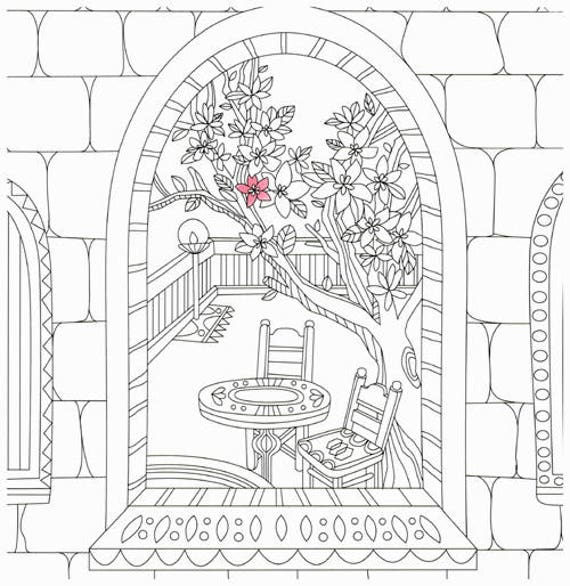 Greece Travel Coloring Book For Adults By Ho Kyung Colouring