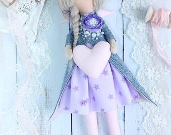 Mini Tilda Doll guardian angel Lisa, textile doll, handmade doll, handmade doll, handmade doll for baby room