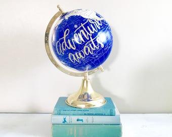 Travel Globe, custom globe, Wedding Globe, world globe, Painted Globe, Wedding Guestbook, home decor, wedding decor, wedding gift, travel