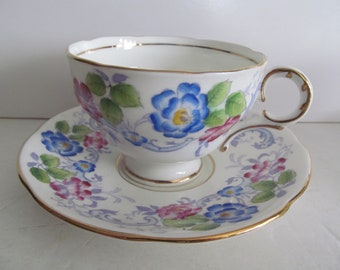 Bone China Tea Cups Fine Bone China Tea Cup English Tea Cup and Saucer Hand Painted Tea Cup Set Floral Tea Cups Made in England