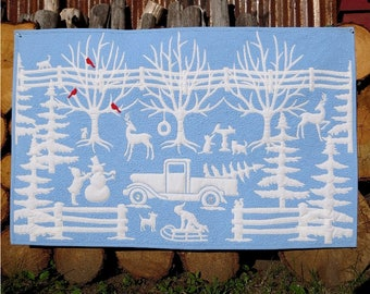 Winter in Wedgwood quilt pattern PDF