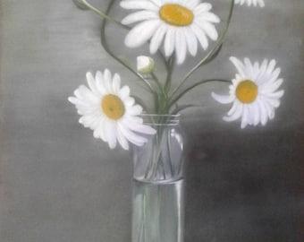 Lily still life painting
