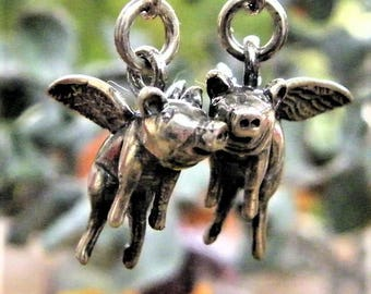 flying pig earrings, when pigs fly earrings
