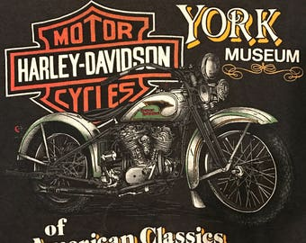 Vintage 89 Harley Davidson Factory and Museum Tee