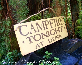 Camp Signs, Campfire Tonight, Lake, Cabin, Home Decor, Rustic Signs, Wood Signs, Handpainted Signs,  Lake House Decor, Lodge Signs