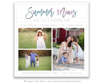 Mini Session Template - photography marketing template - Summer mini session template - Mini Sessions Template