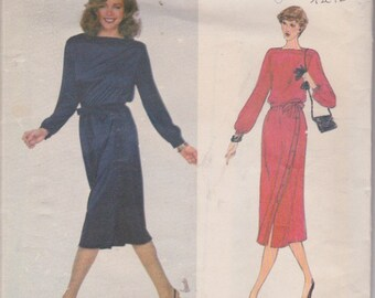 Vogue 2245 Misses' Dress and Belt Size 12 Jerry Silverman Design Vintage UNCUT Pattern Rare and OOP