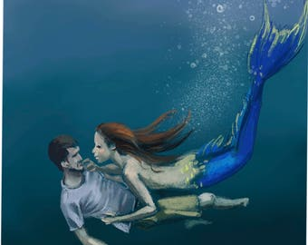 "Art print ""Underwater Love"" by Antonia Sanker"