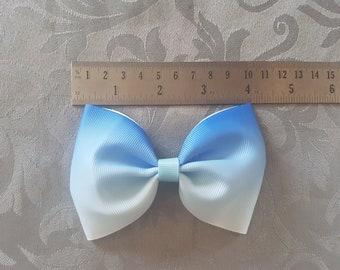 Blue ombre tux bow