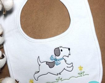 Personalized Baby Bib / Personalized Doggie Bib / Baby Dog Bib / Baby Shower Gift / Baby Puppy Bib / Boy Personalized bib / Girl Bib