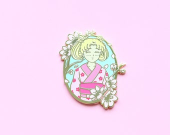 Sailor Moon Hard Enamel Pin Sweet Sakura Usagi Yukata