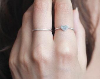 Fingerprint Ring • Dainty Fingerprint Heart Ring • Tiny Fingerprint Ring • Custom Fingerprint Jewelry • PERSONALIZED Mother Gift • RM30