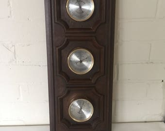 Vintage Weather Station - Springfield - Verticle or Horizontal Barometer Thermometer Humidity