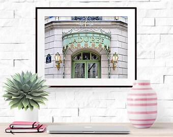 Paris Photograph -- Laduree Macarons -- Travel Photography -- 10 X 8 Inch Print