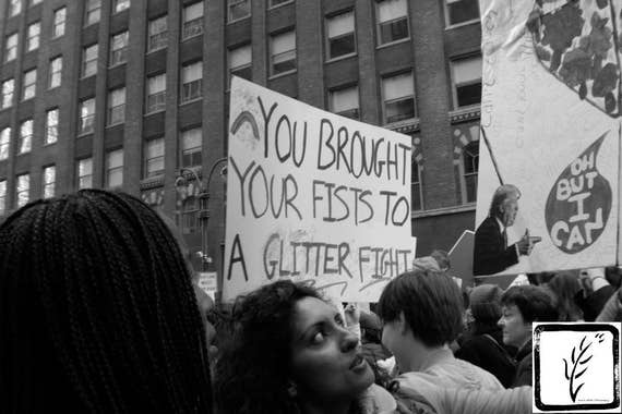 """Glitter Fight,"" New York City Women's March, 2017."