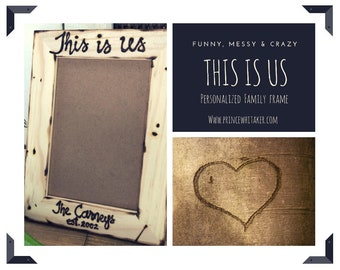 This Is Us • Family Wood Frame • Wedding • Anniversary • Birthday • In Love • Personalized with Name and Established Year • TV Show • Life