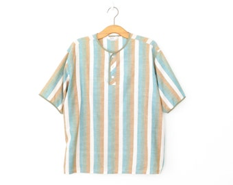 vintage striped tee * vintage t-shirt * cotton blouse * striped shirt * xl - plus size