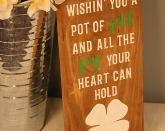 Irish Sign, St. Patrick's Day Sign, Wooden Sign, Wall Decor