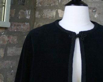 Vintage Black Velveteen Jacket