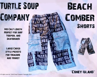 Beach Comber Capri swim suit trunks / shorts