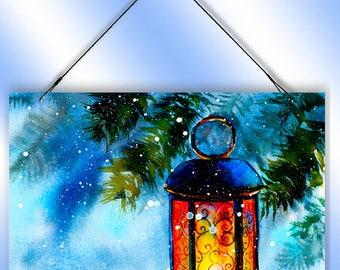 Christmas Winter Lantern Decorative Window Sun Catcher from Redeye Laserworks