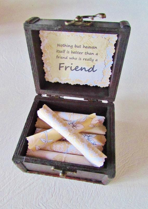 Friend Christmas Gift, Friend Gift Idea, Friend Birthday, Friend Going Away, Best Friend Gift, Friendship Scroll Box, Friendship Scroll Box