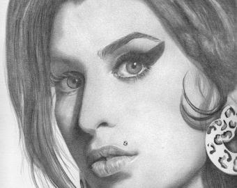 Amy Winehouse Original Drawing