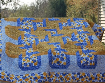 Blue and Yellow/Gold Mystery Quilt