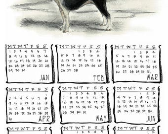 Boston Terrier 2018 yearly calendar
