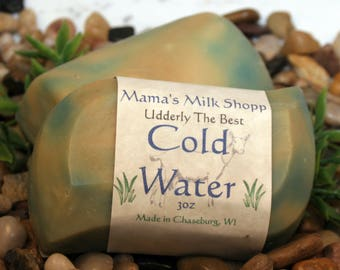 Cold Water - Farm Fresh - Goat Milk Soap - WAHM - Artisan Soap - Handcrafted Soap - Goat Soap - Cold Process Soap - Mamas Milk Shopp